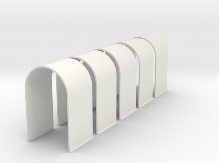 N-Scale Tunnel Liner - Single Track (5-Pack) 3d printed