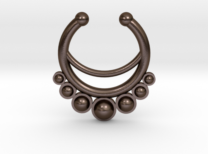 Faux Septum Ring - dropped stones 3d printed