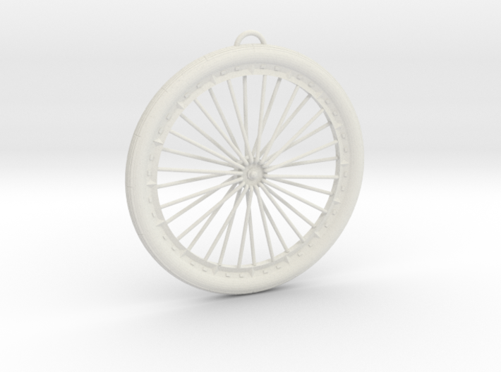 Bicycle Wheel Pendant Big 3d printed