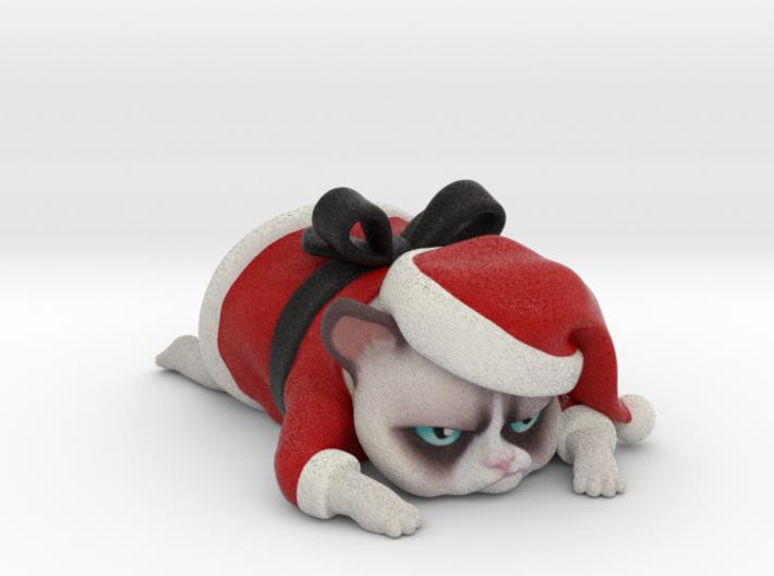 Grumpy Cat - Christmas Edition 3d printed