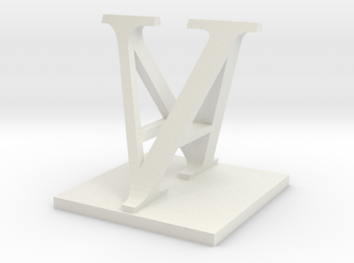 Two way letter / initial A&V 3d printed
