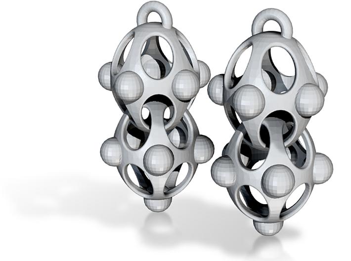 subatomic organisium earrings 3d printed