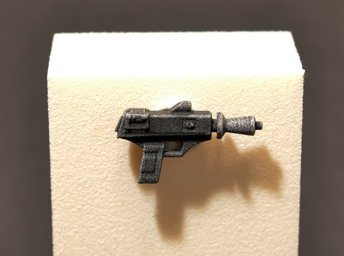 "PRHI Star Wars Black Pilot Pistol 6"" 3d printed White strong flexible polished, after painting"