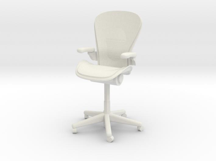 Miniature 1:24 Aeron Chair 3d printed