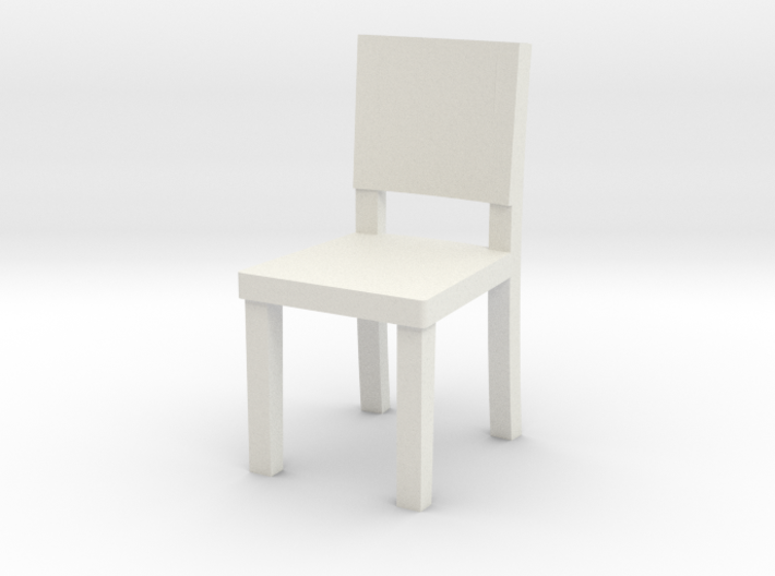 Miniature 1:48 Simple Chair 3d printed
