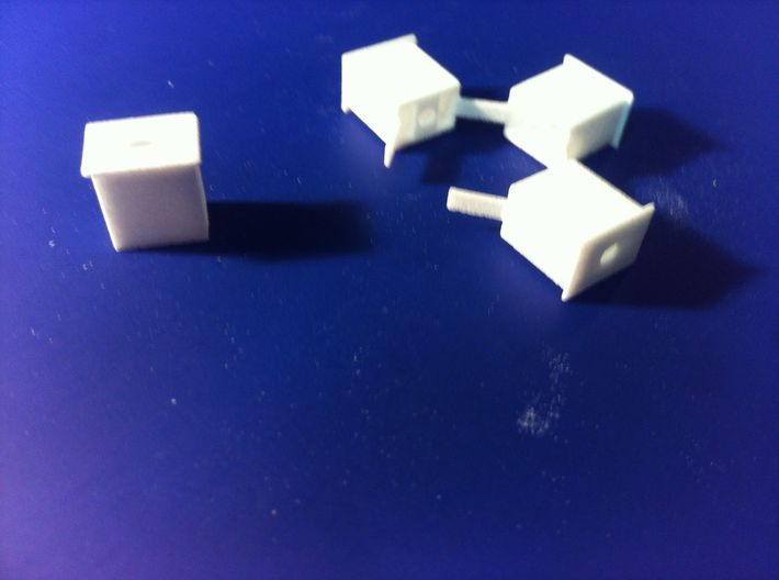 HO Scale Railway Signal Control Boxes Ho Scale 1/8 3d printed box cut free