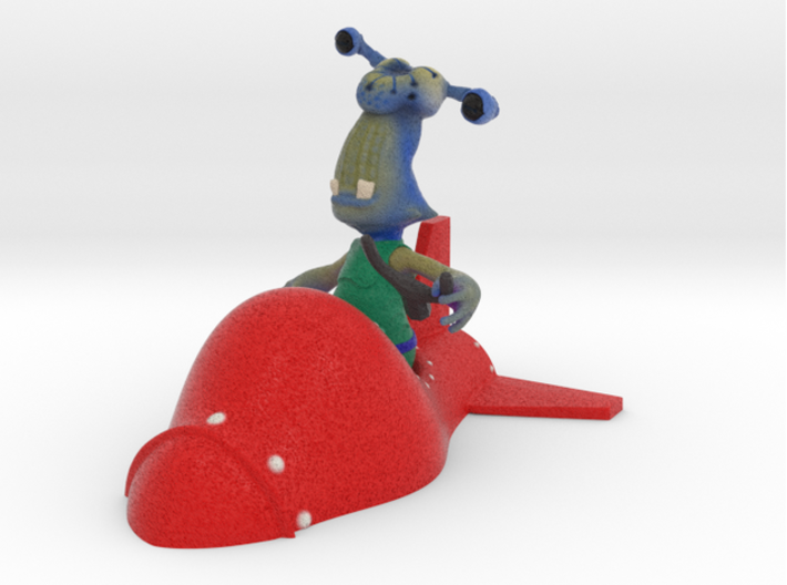 Crabby Coco & His Rocket 3d printed