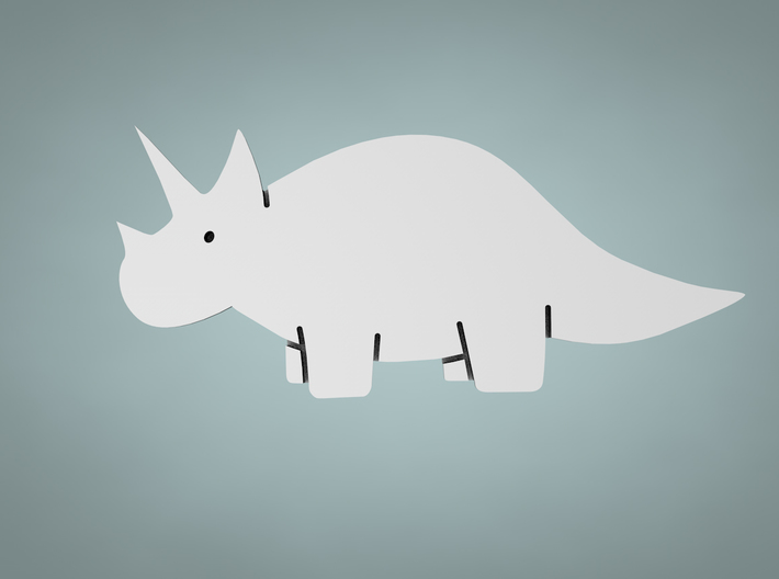 Triceratops Cookie Cutter 3d printed Makes your dough shaped like this!
