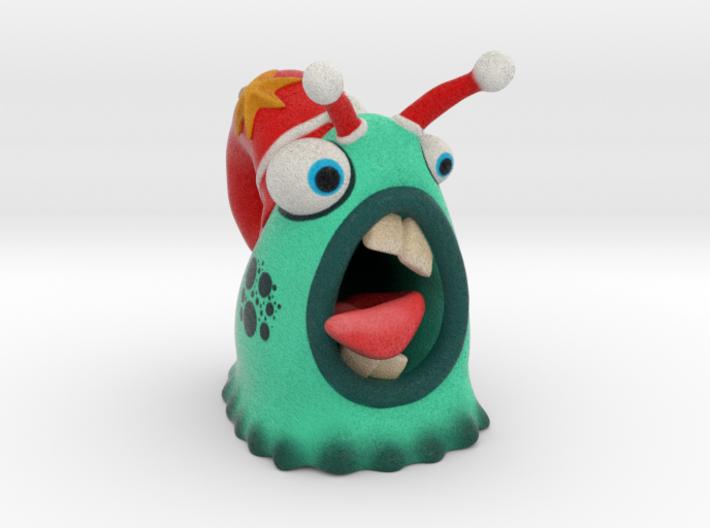 Lazy Christmas Santa Snail 3d printed