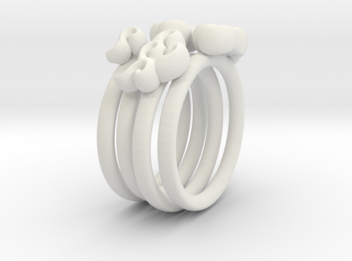 Four Clouds - size 5 - 3d printed