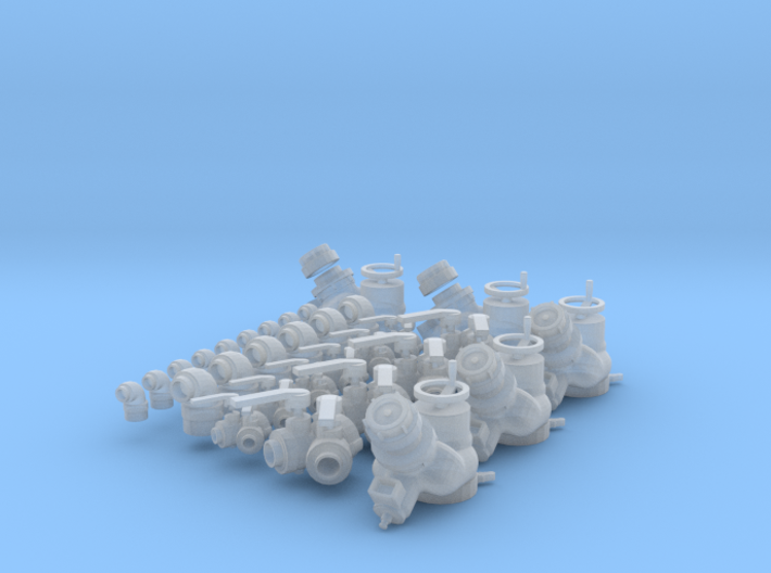"""Fire fitting set """"B"""" (large)(1/24 scale) 3d printed"""