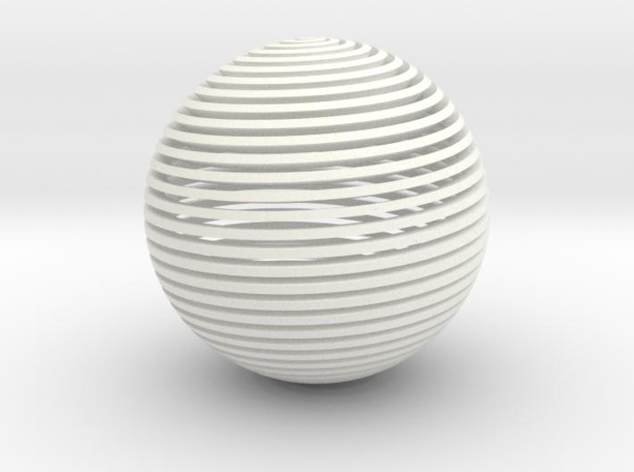 Spherical Spiral 3d printed