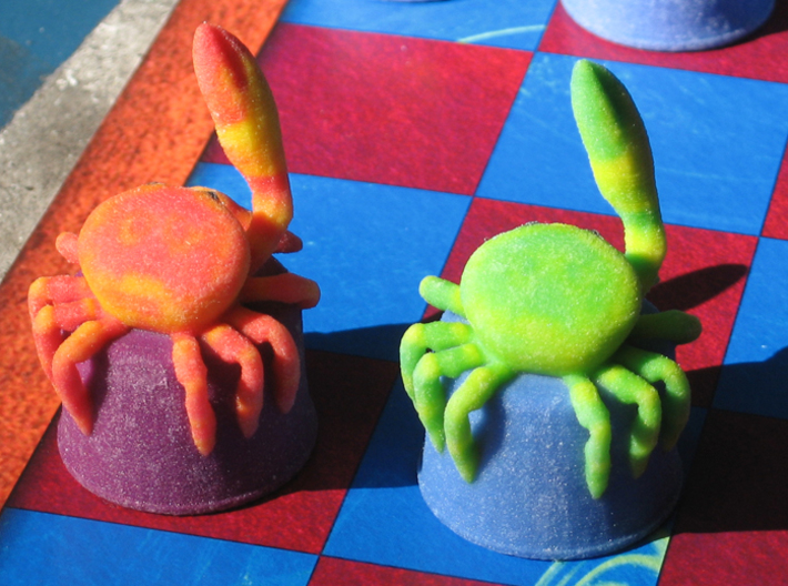 Sea Chess Pieces - Small 3d printed King/crab