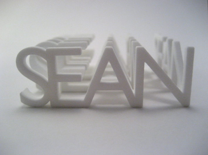 2-Way Word Sculpture 3d printed As viewed from the front