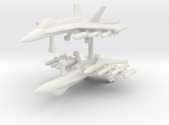 1/285 F-18C Hornet (Anti-Ship Loadout) (x2) 3d printed 1/285 F-18C Hornet (Anti-Ship Loadout) (x2)