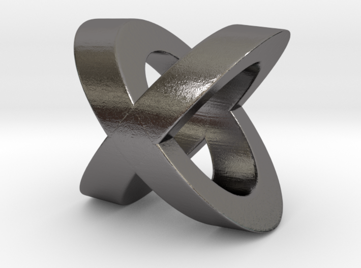 Hugs And Kisses Pendant - Small Version 3d printed