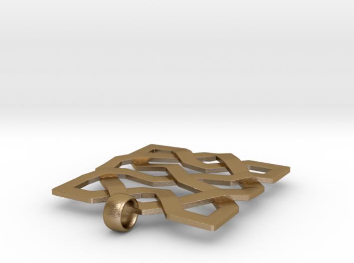 Alhambra Pendant - Islamic Filigree 3d printed