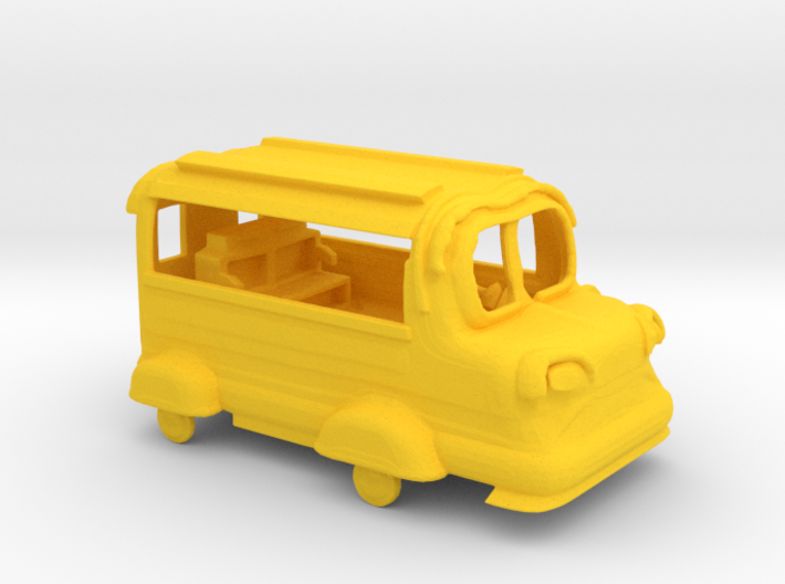 Micro 3DP Bus Toy with Working Tires 3d printed Default Yellow