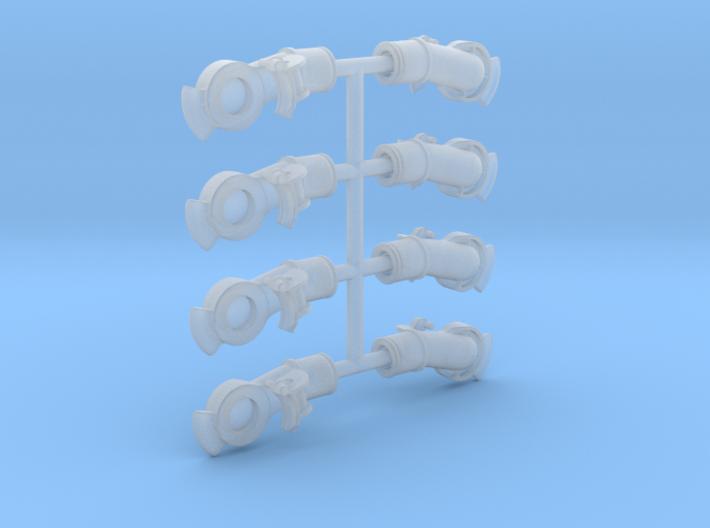 Air Brake Gladhands - 7/8n2 Scale  3d printed