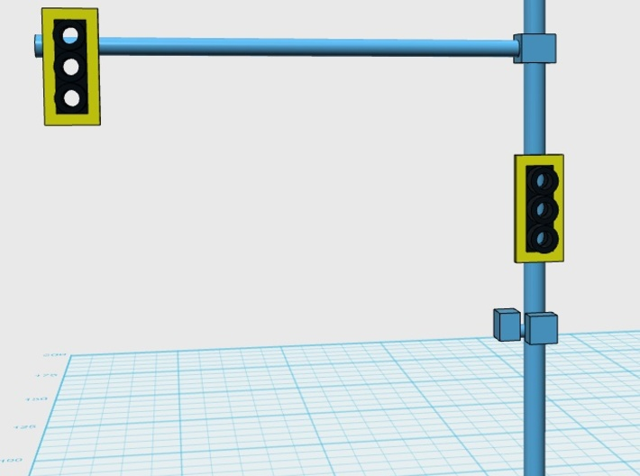 Traffic Light Signal (Set Of 2) Pole Unassembled 3d printed