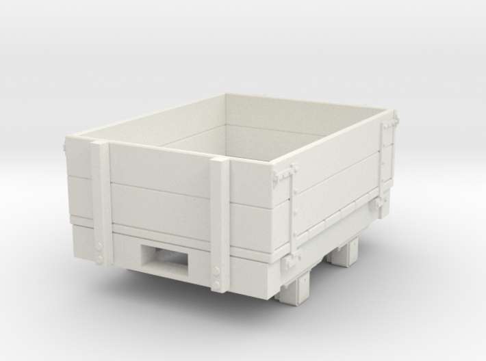 Gn15 small 4ft dropsided wagon 3d printed