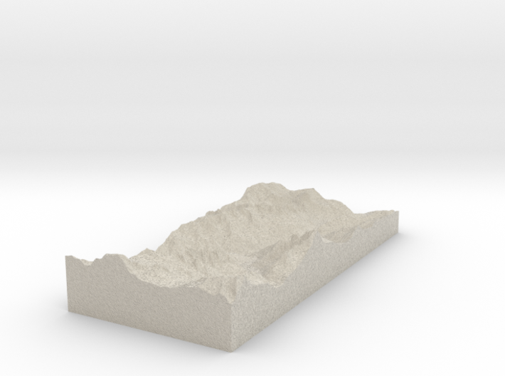 Model of Les Tines Railway Station 3d printed