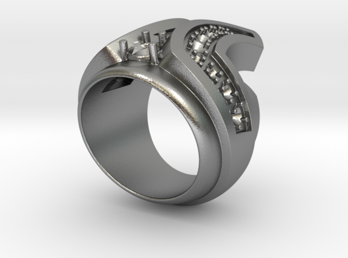 Final Frontier Ring _ Size 12 (21.49 mm) 3d printed