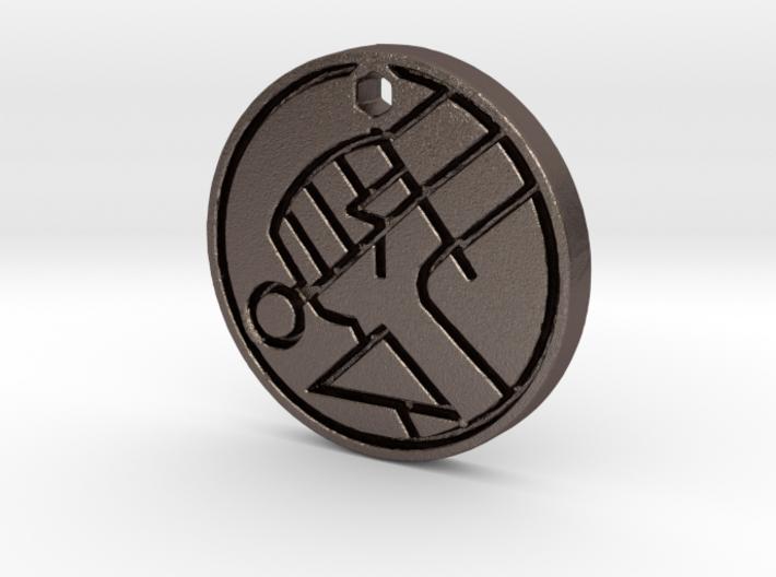 Hellboy BPRD Logo Necklace Replica 3d printed