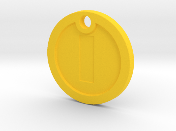 Super Mario Gold Coin Replica Necklace 3d printed