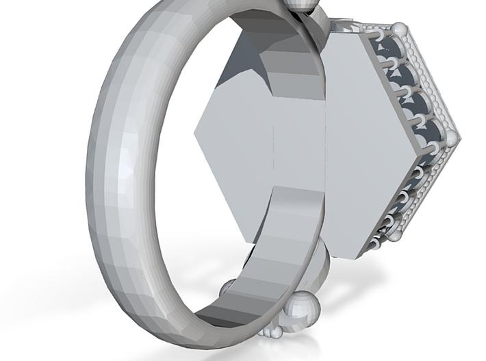 Flower Ring 1 3d printed
