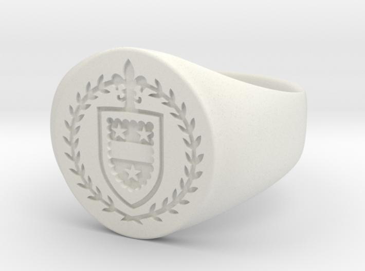 StCyr Crest Ring - Circular - Size 9 3d printed