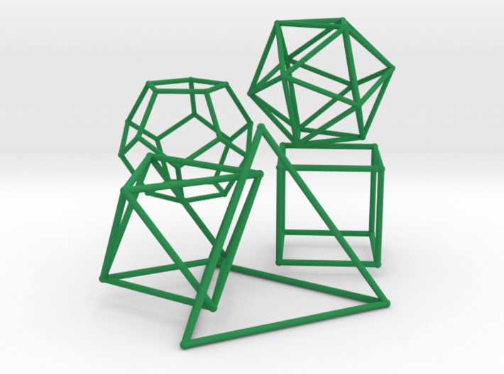 Five Platonic Solids (500 cc) 3d printed