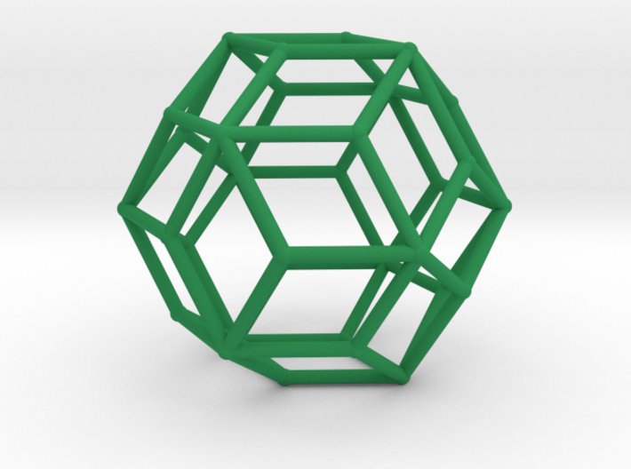 Rhombic Triacontahedron (100 cc) 3d printed