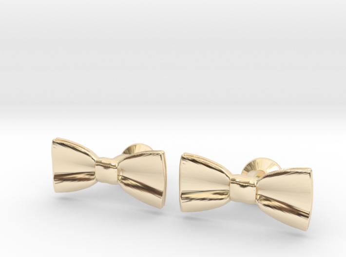 Bow Tie Cufflinks 3d printed