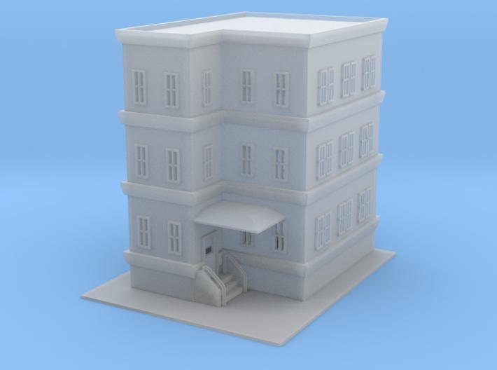 City Apartment Building 2 Z Scale 3d printed City Apartment 2 Z scale