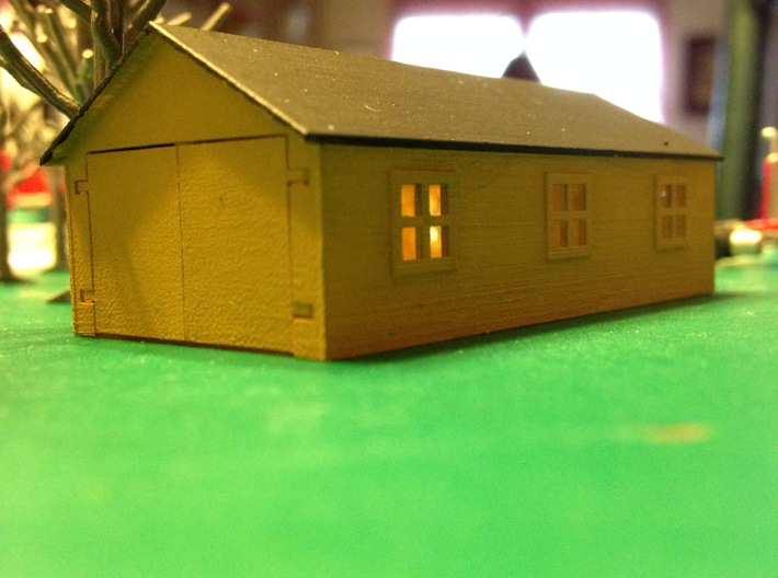 Country Work Shed Z Scale 3d printed Work Shed 20ft. x 40ft. Z scale