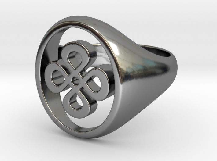 Floating signet ring size 7 3d printed