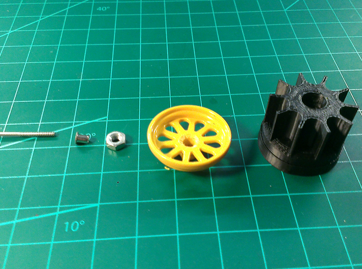 Bruder Delta Loader: Wheel hub 3d printed Add a caption...
