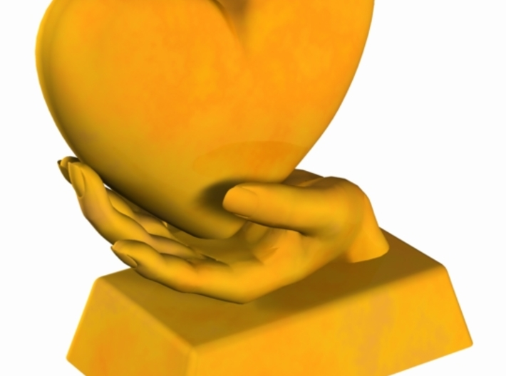Heart in Hand B 3d printed
