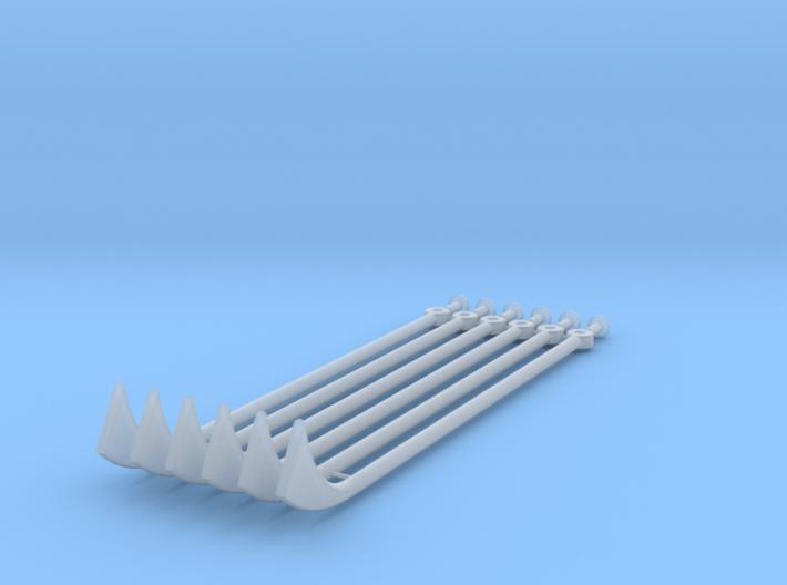 Rowing Machine (oars & pins) 3d printed
