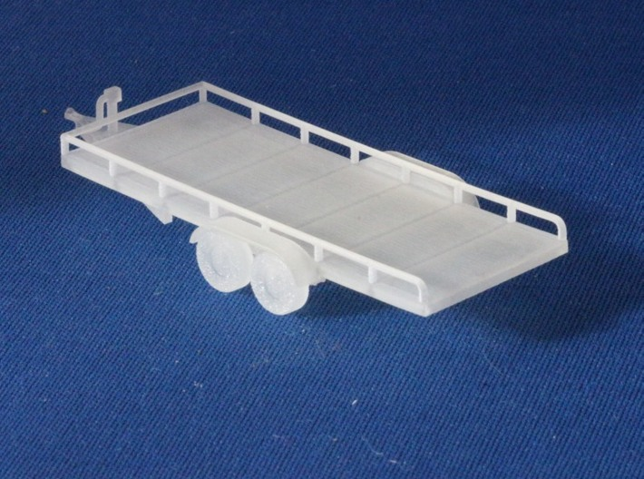 Flatbed Trailers X2 HO Scale 1/87 3d printed Add a caption...