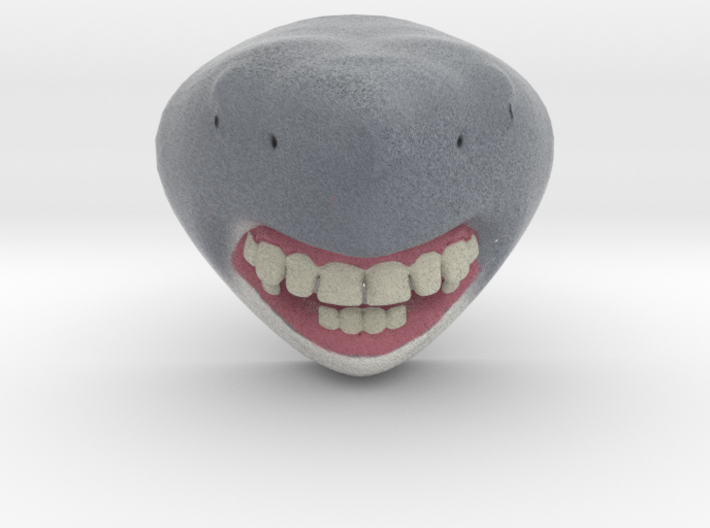 Shark with Human Teeth 3d printed