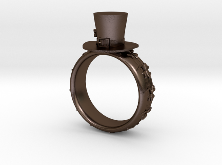 St Patrick's hat ring(size is = USA 4.5-5) 3d printed