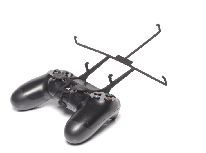 PS4 controller & Lenovo IdeaTab S6000 3d printed Without phone - A Nexus 7 and a black PS4 controller