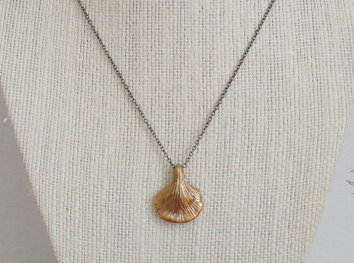 Tear Drop Oyster Mushroom Pendant 3d printed Chain not included.