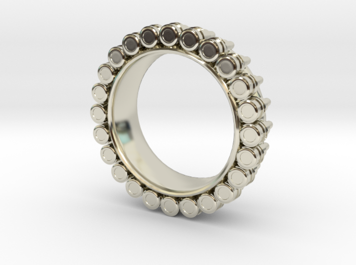Bullet ring(size = USA 4-4.5) 3d printed