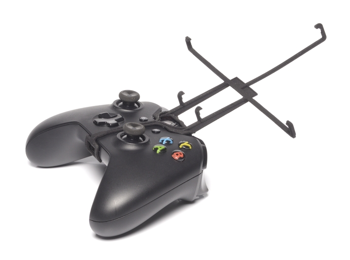 Xbox One controller & Lenovo IdeaTab S6000L 3d printed Without phone - A Nexus 7 and a black Xbox One controller
