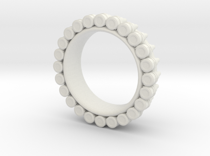 Bullet ring(size = USA 6.5-7) 3d printed