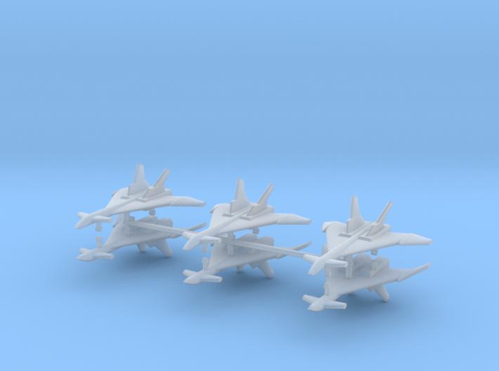 1/600 Mikoyan MiG-31 (Firefox) (x6) 3d printed 1/600 Mikoyan MiG-31 (Firefox) (x6)