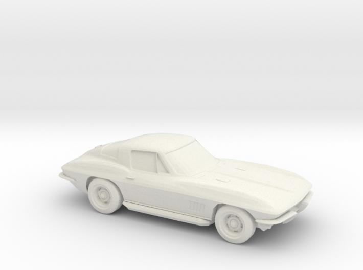 1/87 1963 Corvette Stingray 3d printed